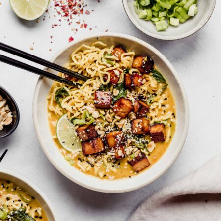 Thai curry ramen